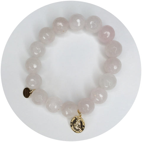 Rose Quartz with St. Valentine