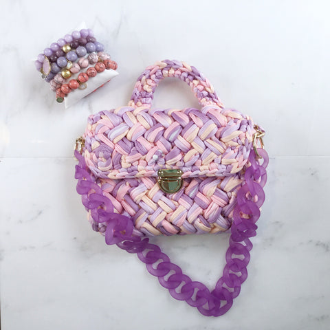 Convertible Ashley Acrylic Light Purple Strap
