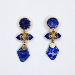 Evalina Lapis Drop Earrings