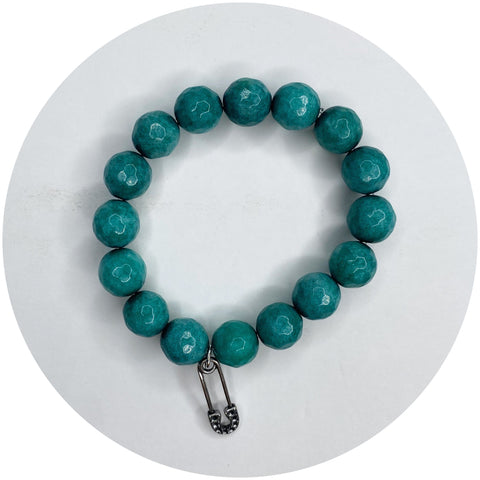 """Breast Friends 4 Life"" Rose Quartz with Pavé Bow"
