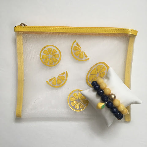 Alex's Lemonade Lapis with Lemon Pendant