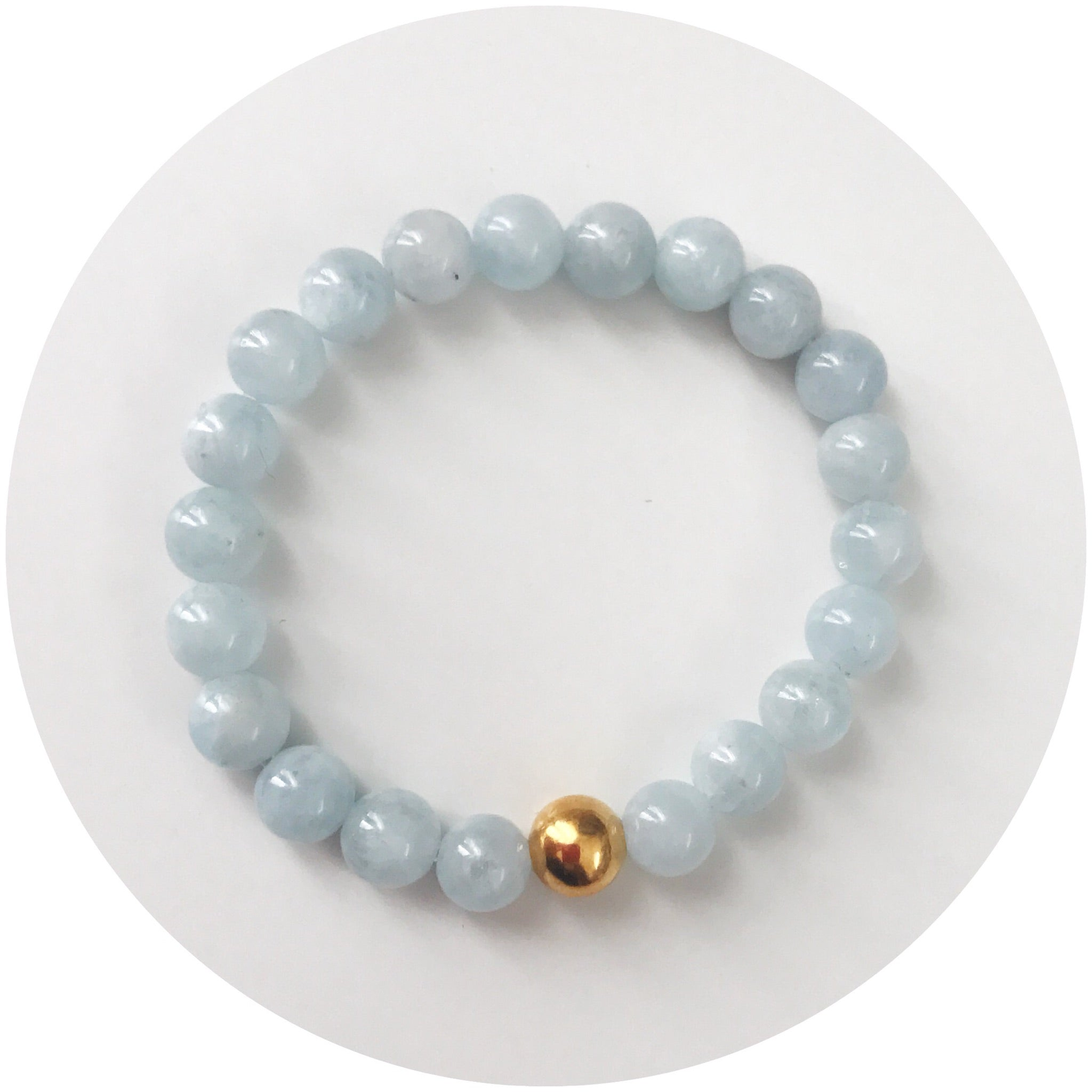 Mini Aquamarine with Gold Accent *For NewBorns*
