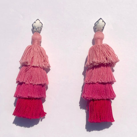 Tula Pink Ombré Tassel Earrings