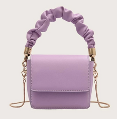 Penny Purple Ruched Hand Bag