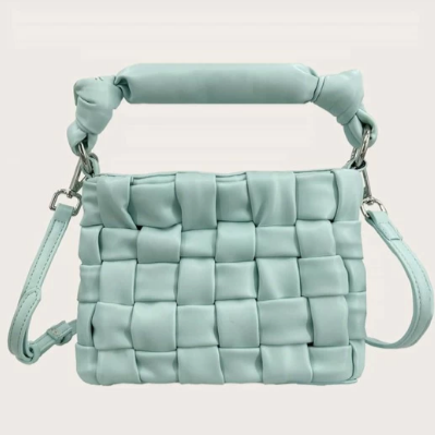 Aqua Patchwork Hand Bag