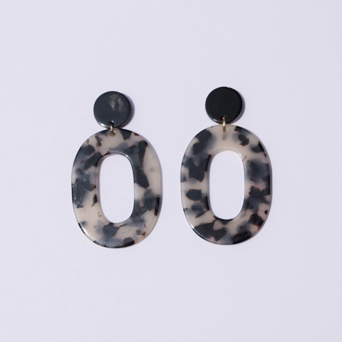Black Pepper Acrylic Earrings