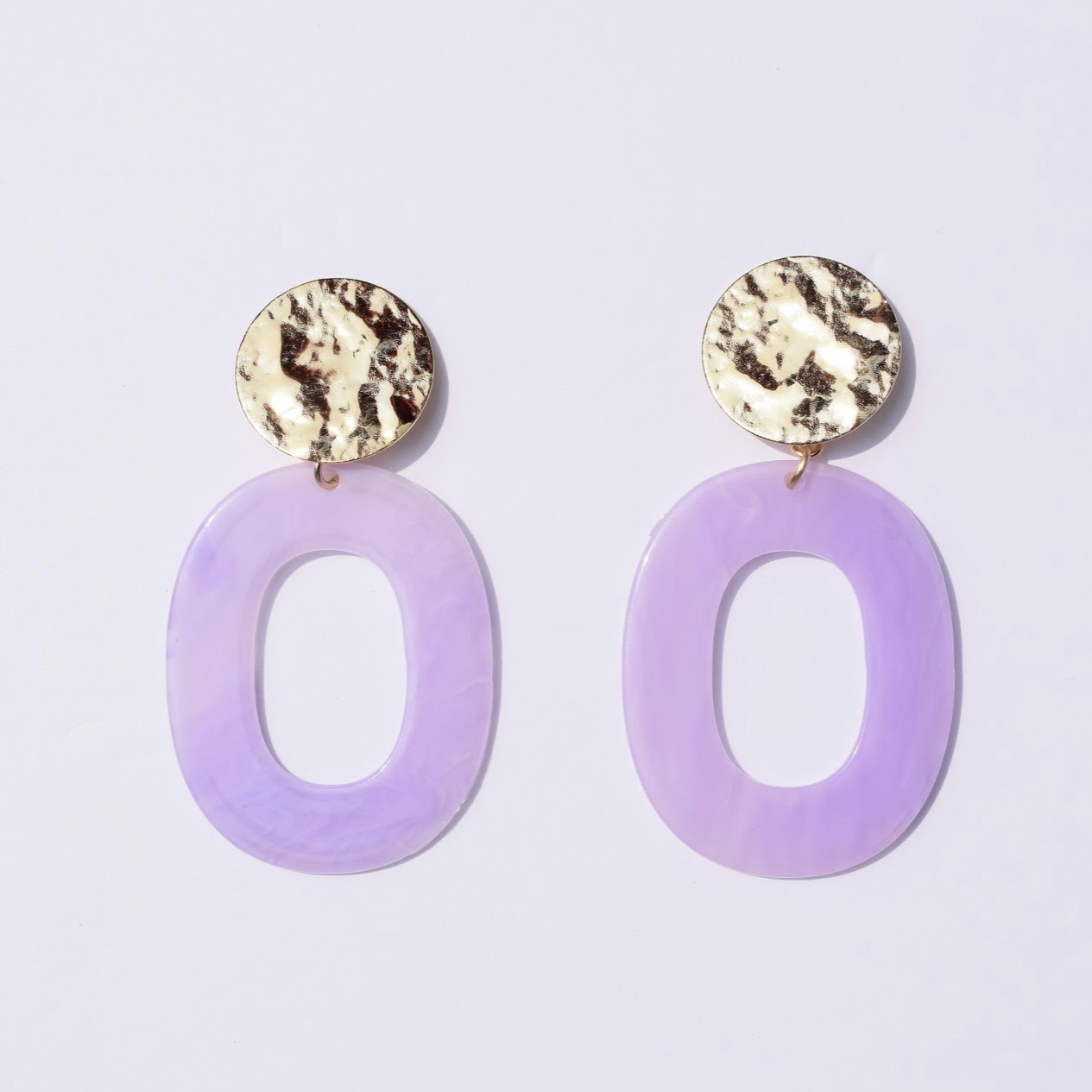 Lila Lavender Acrylic Earrings - Oriana Lamarca LLC