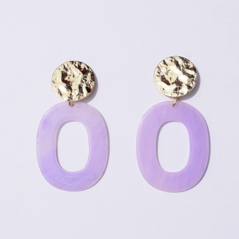 Lila Lavender Acrylic Earrings