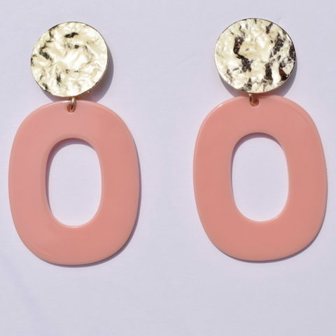 Seychelle Coral Pink Acrylic Earrings