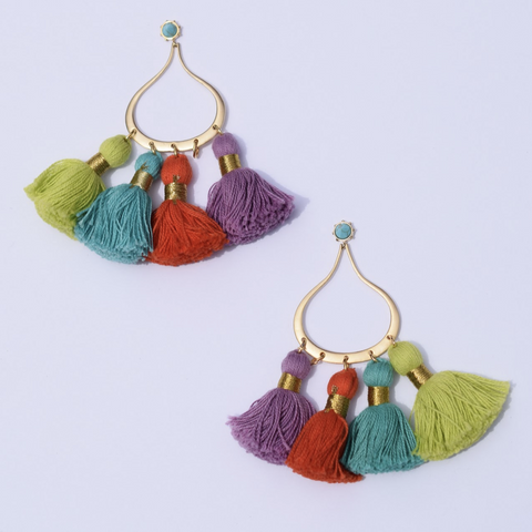 Miami Chic Tassel Earrings