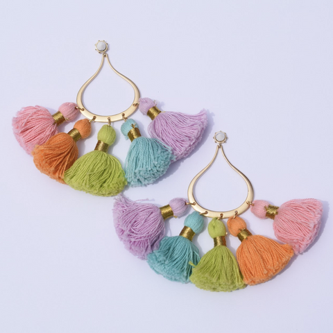 St Barths Chic Tassel Earrings