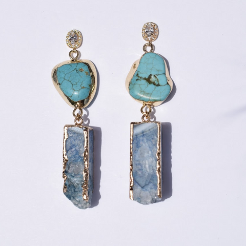 Paloma Turquoise Megsite with Blue Quartz