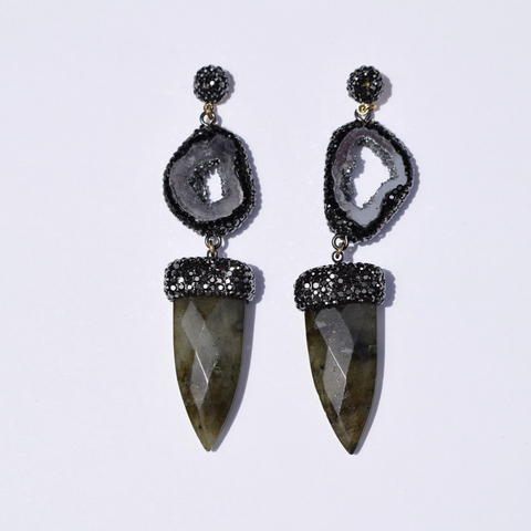 Lucia  Labradorite Dagger Earrings