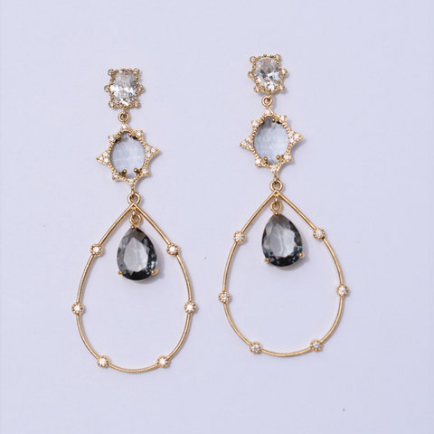 Claudette Drop Gold Earring