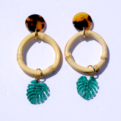 Coco Bamboo Acrylic Earrings