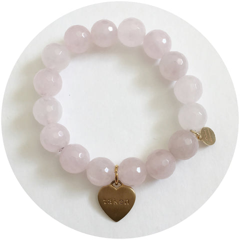 """Taken"" Rose Quartz Bracelet"