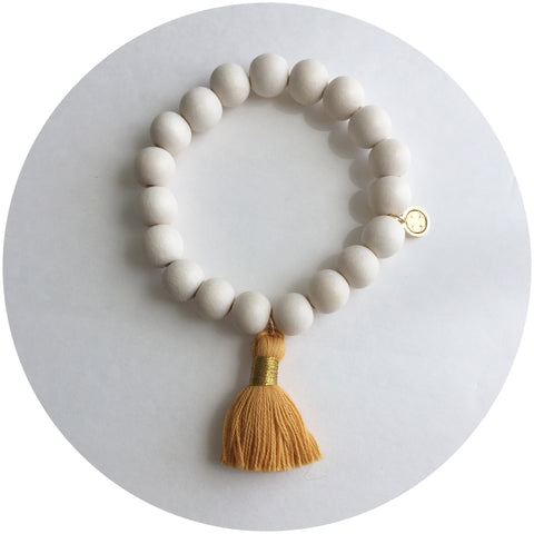 Blonde Wood with Buttercup Tassel