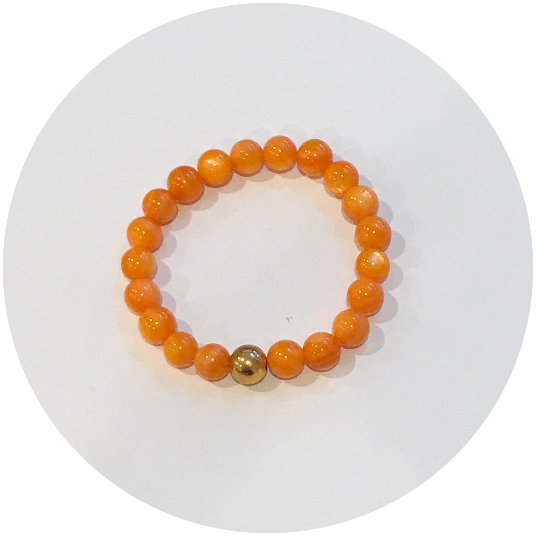 Mini Orange Pearl with Gold Accent *For NewBorns* - Oriana Lamarca LLC