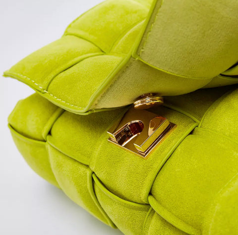 Quinn Green Quilted Bag