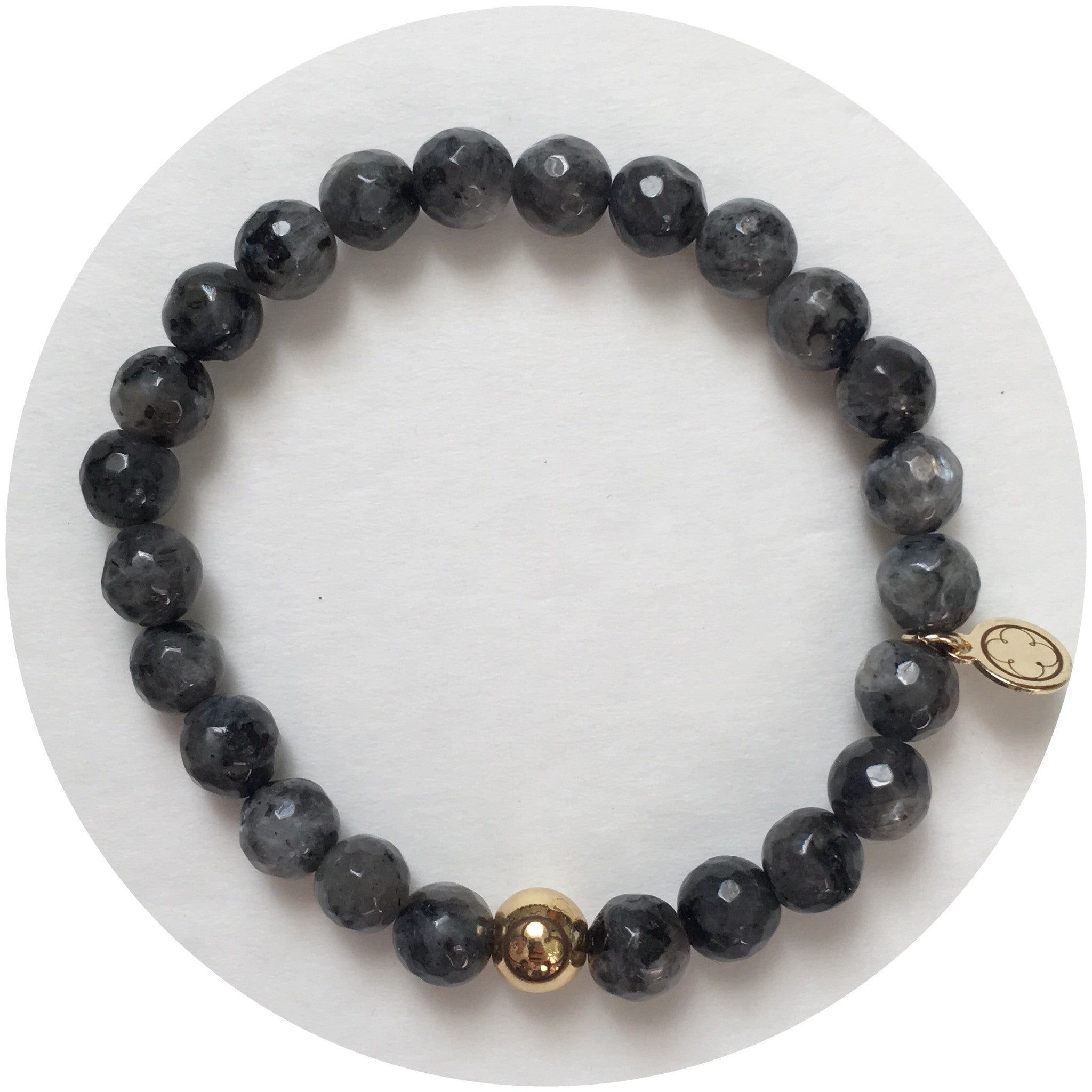 Mens Labradorite with Gold Accent - Oriana Lamarca LLC