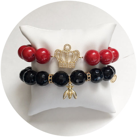 "Nate B. Red ""Queen B"" Armparty"