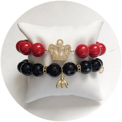"Nate B. Red ""Queen B"" Armparty - Oriana Lamarca LLC"