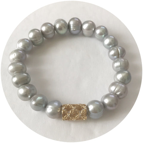 EJ X OL Freshwater Gris Pearls with Barrel