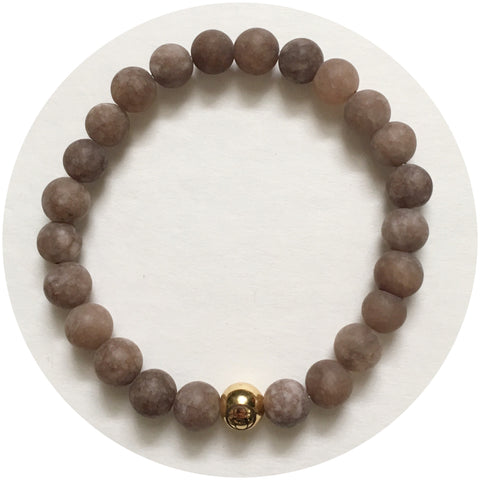 Mens Matte Mocha Jade with Gold Accent