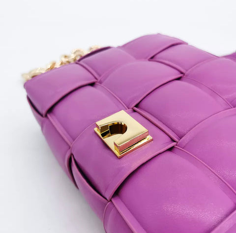 Quinn Purple Quilted Bag