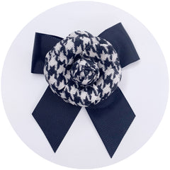 Houndstooth Bow Brooch