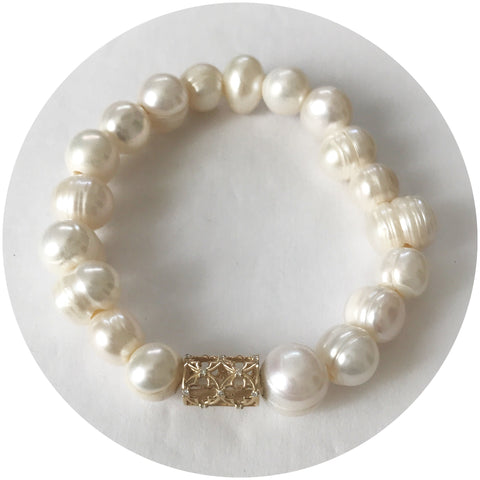 EJ X OL Freshwater Pearls with Barrel