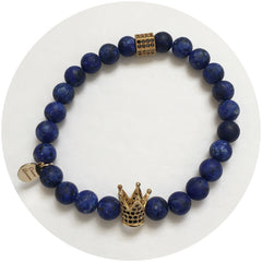Nate B. Mens Matte Lapis Pavè Royalty Crown