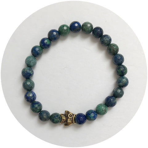 Mens Azurite with Antiqued Fish