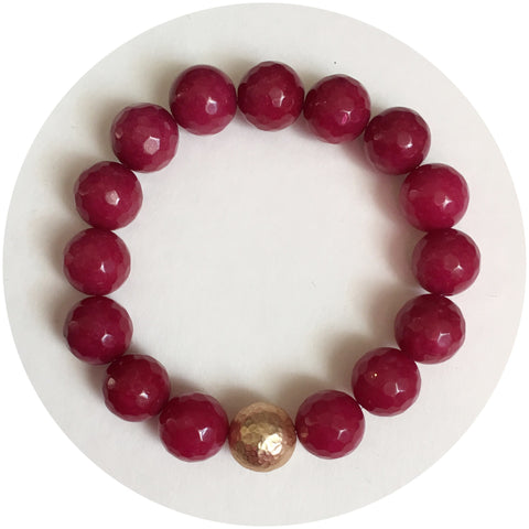 Marsala Jade with Hammered Gold Accent