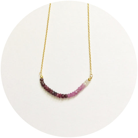 Rock Candy Ruby Necklace