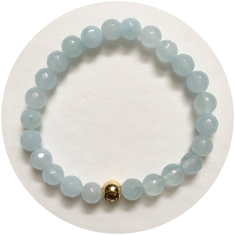 Mens Aqua Jade with Gold Accent