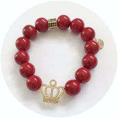 Nate B. Red Riverstone Queen crown