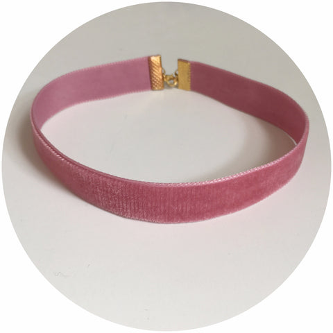 Dusty Rose Velvet Choker