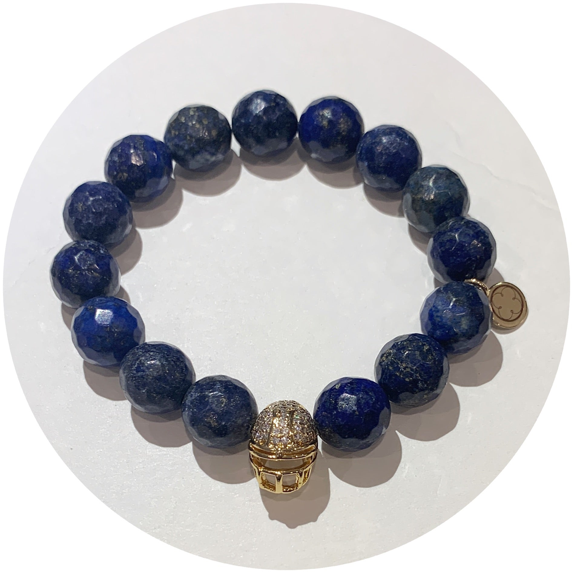 Lapis with Pavé Gold Helmet