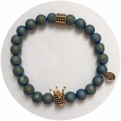 Nate B. Mens Blue Druzy with Pavè Royalty Crown