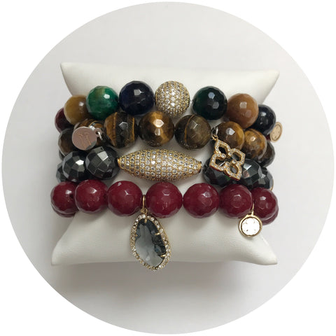 Multicolor Tiger Eye Armparty