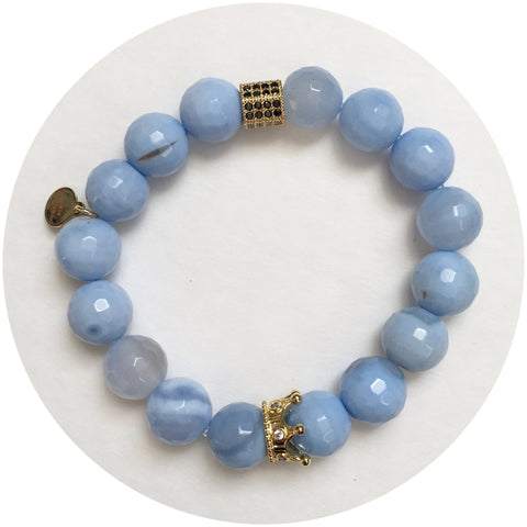 Nate B. Serenity Blue Agate Pavè Royalty Crown