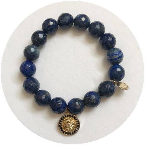"""Paulette's C of Blue"" Lapis with Lioness"