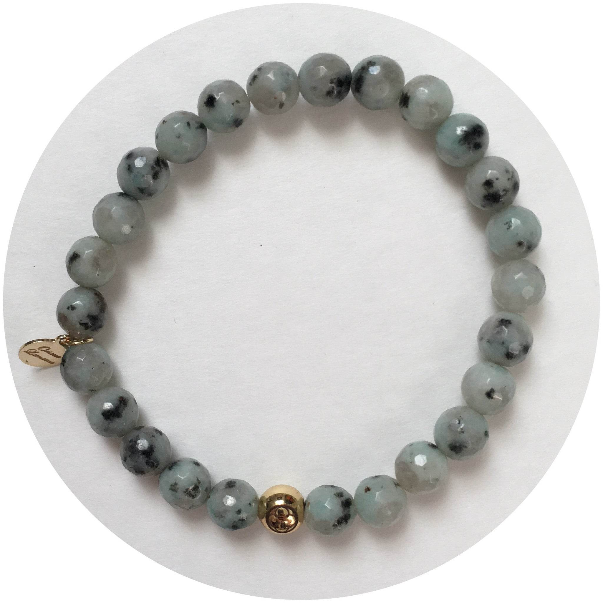Mens Kiwi Jasper with Gold Accent - Oriana Lamarca LLC