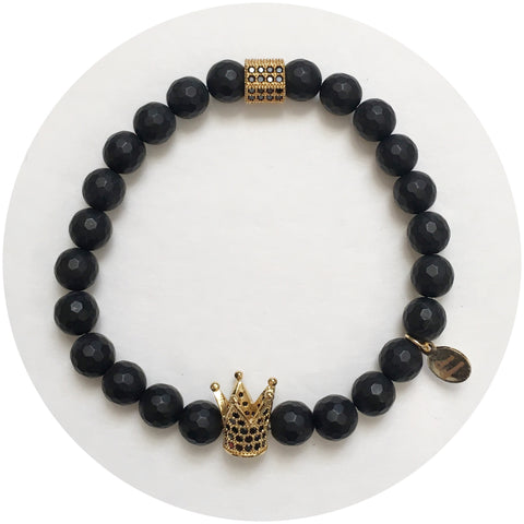 Nate B. Mens Matte Black Onyx with Pavè Royalty Crown