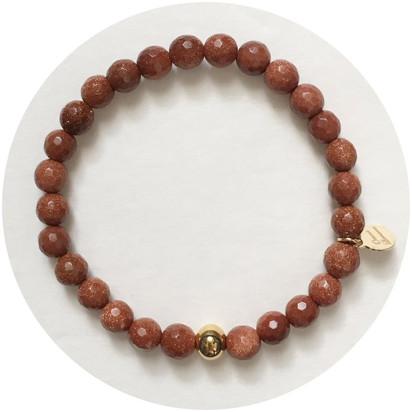 Mens Goldstone with Gold Accent