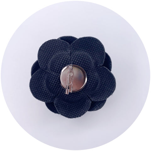 Black Leather Brooch