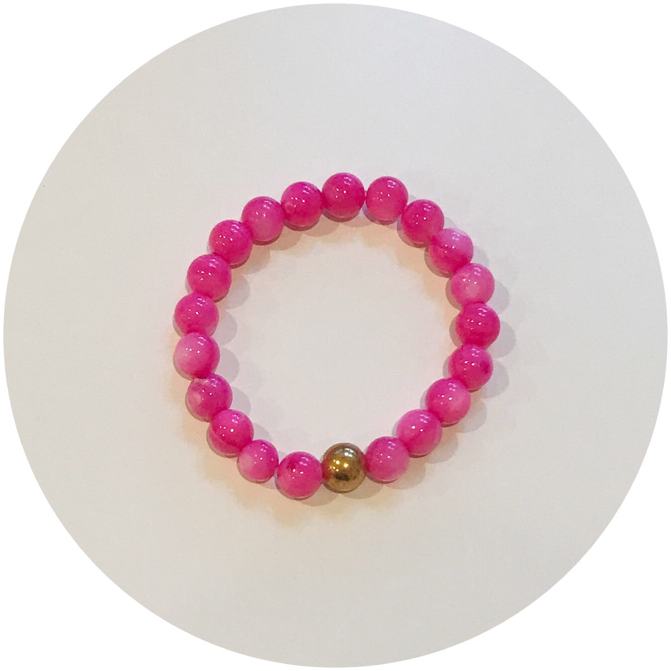 Mini Magenta Pearl with Gold Accent *For NewBorns*