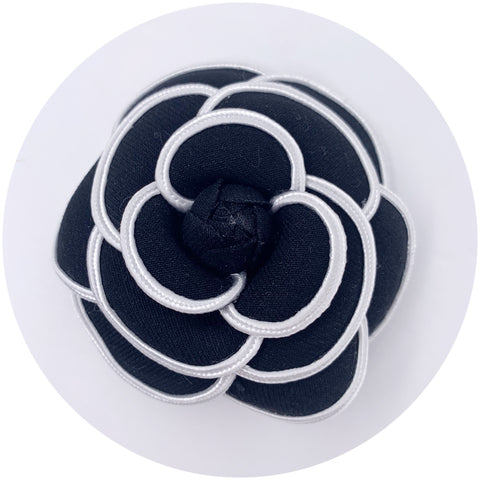 Black Piped Brooch