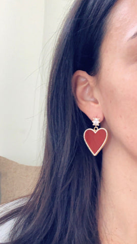 Heather Heart Earring